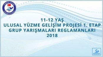 TYF ERDAL BOZKIR ANISINA 11-12 YAŞ ULUSAL, YÜZME GELİŞİM PROJESİ 1.ETAP GRUP YARIŞMALARI REGLAMANI 2018