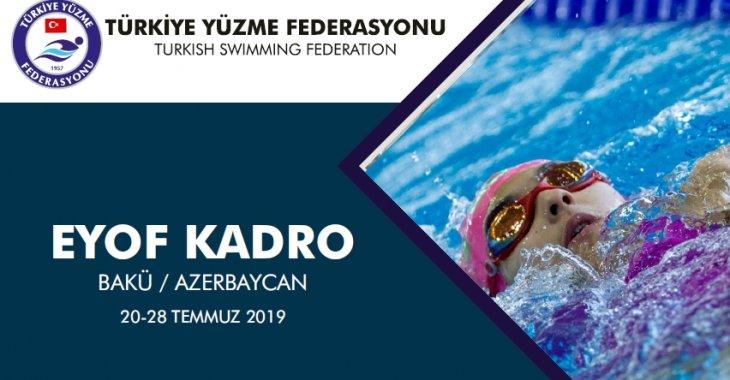 EYOF 2019 / AZERBAYCAN / KAFİLE LİSTESİ