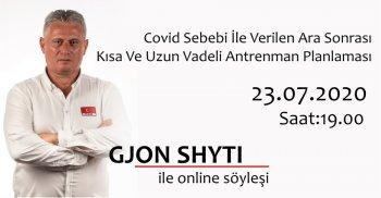 Gjon Shyti ile Online Söyleşi / Covid Sebebi İle Verilen Ara Sonrası Kısa Ve Uzun Vadeli Antrenman Planlaması