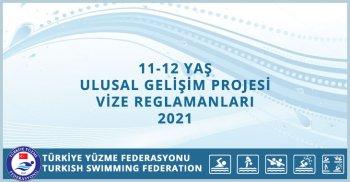 11 - 12 YAŞ ULUSAL GELİŞİM PROJESİ 1.2.3. VİZE REGLAMANLARI 2021