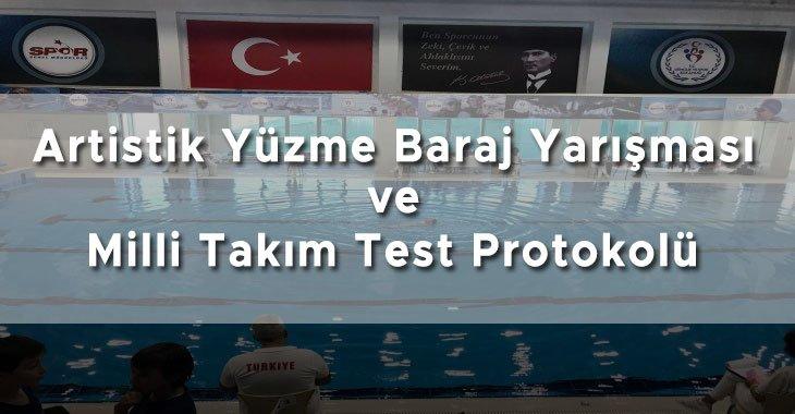 Milli Takım Seçme Protokolü ve Artistik Yüzme Baraj Yarışması 2021